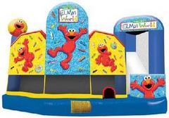 Large Elmo 5 in 1 3D Combo Bounce House w/slide