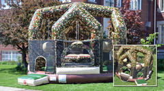 Camouflage Wrecking Ball w/ Jousting Interactive Bouncy Room Game (4 wrecking balls the perfect wow factor)