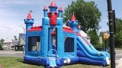 Royal Caslte 3 in 1 Combo Bounce House w/Slide