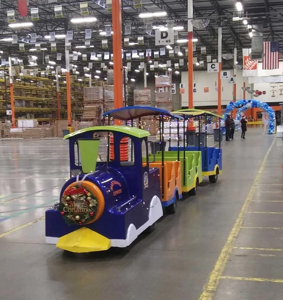 trackless train rental houston