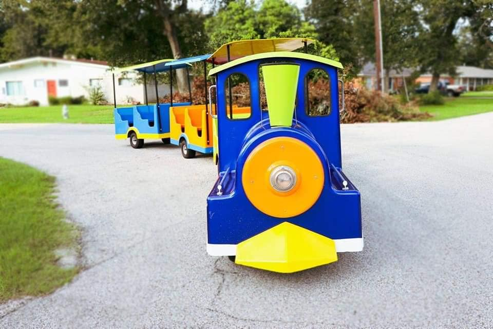 houston trackless train