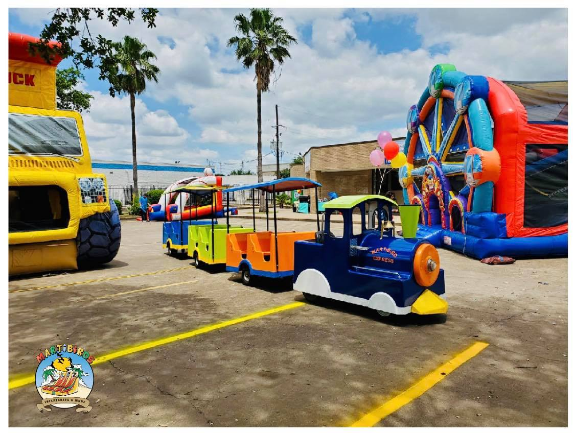 trackless train rental in houston