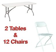 Tables and chairs package