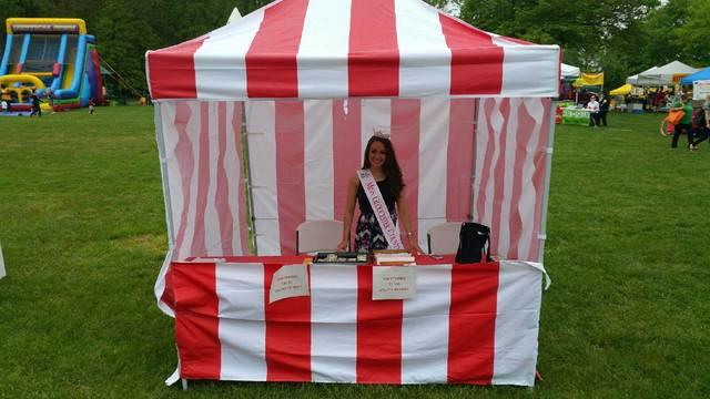 Carnival Tents (Red & White Stripe)