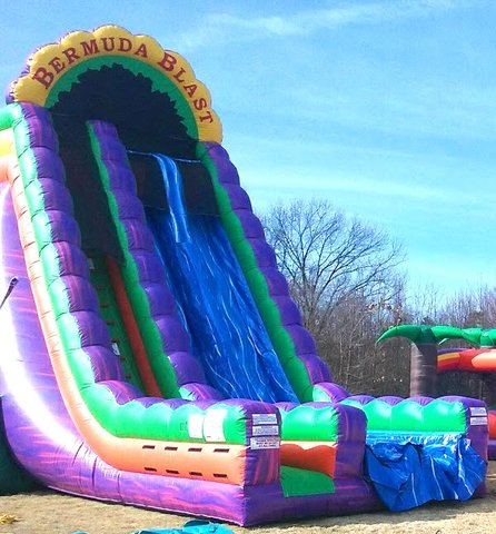 27 ft Bermuda Blast 2 Lane Slide