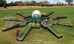 Inflatable 9 Hole Mini Golf Game