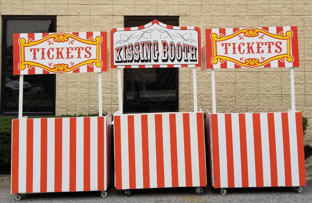 Ticket Booth or Kissing Booth