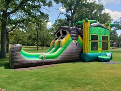 Double Lane Tree House Combo Water Slide