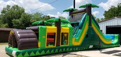 Tropical Obstacle Water Slide