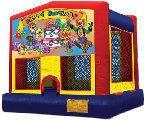 13x13 Happy Birthday Clown Bounce House
