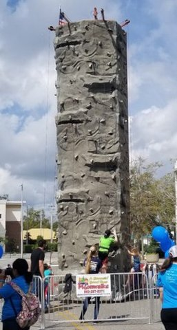 28 Foot Tall Rock Wall