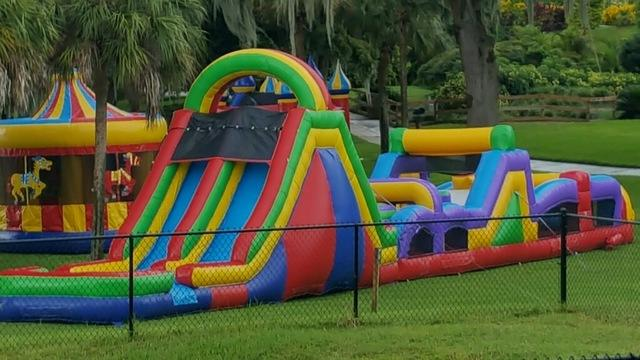75 Foot Long Rockin Obstacle Course