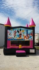 13x13 Hot Pink Castle w/ Mickey Mouse Fun Shop Theme