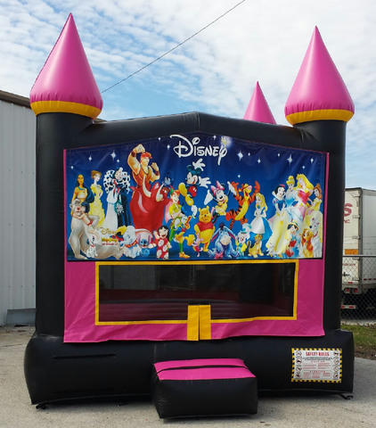 13X13 Hot Pink Castle w/ Disney All Stars