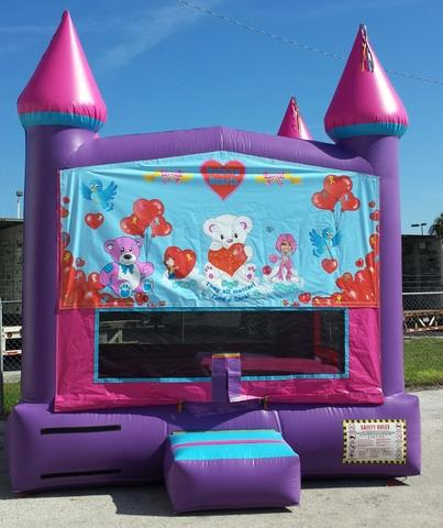 13x13 Pink Palace Helping Hearts Bounce House