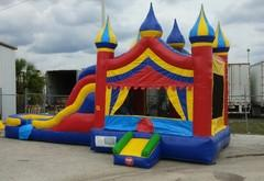 (1) 5 in 1 Big Top Circus Dry Combo Bounce And Slide