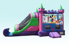 4 in 1 Party Palace Combo wet with Mickey Mouse