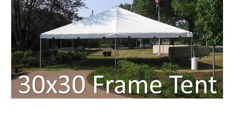 30x30 Frame Tent Party Tent Rental North Georgia