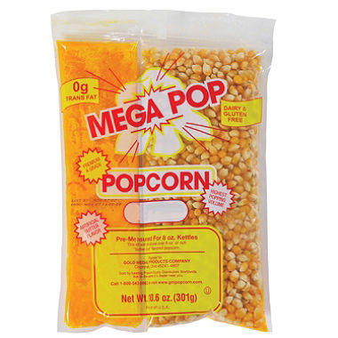Gold Medal Mega Pop Popcorn Kit (25 Servings)