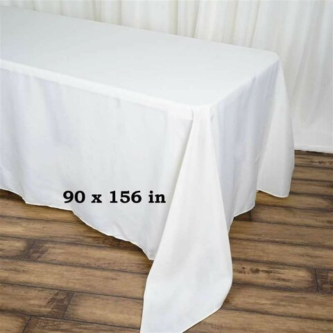 Linen - 90x156 rectangular - white