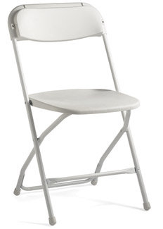 Chairs - White Folding Chair (Plastic & Metal)