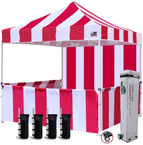 10x10 Carnival Booth Canopy Tent (Red/White)