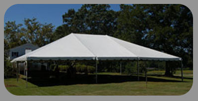 Tent 40x100 white frame tent [T]