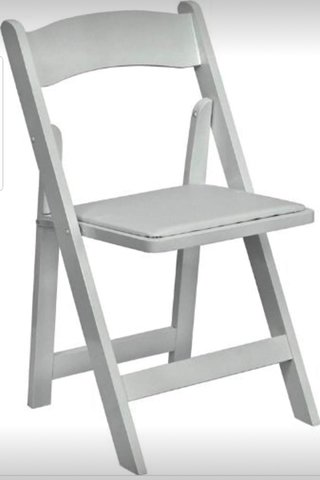 Chairs - White Resin padded seat Folding
