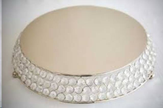 Cake Stand Crystal - round 16
