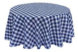 Linen - Royal blue/White check - 120