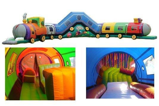 47 Foot  Enclosed Train Obstacle Course For Sale