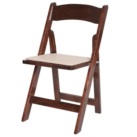 Chairs - Fruitwood padded folding