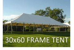 Tent - 30x60 White Frame Tent