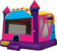 Bounce and Waterslide Combo Enclosed Pink Castle Combo