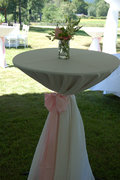 "132"" Round Table Linen  Sashed Floor Length (Cocktail Table)"