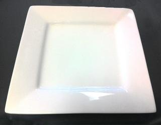Whittier white square salad plate 7in