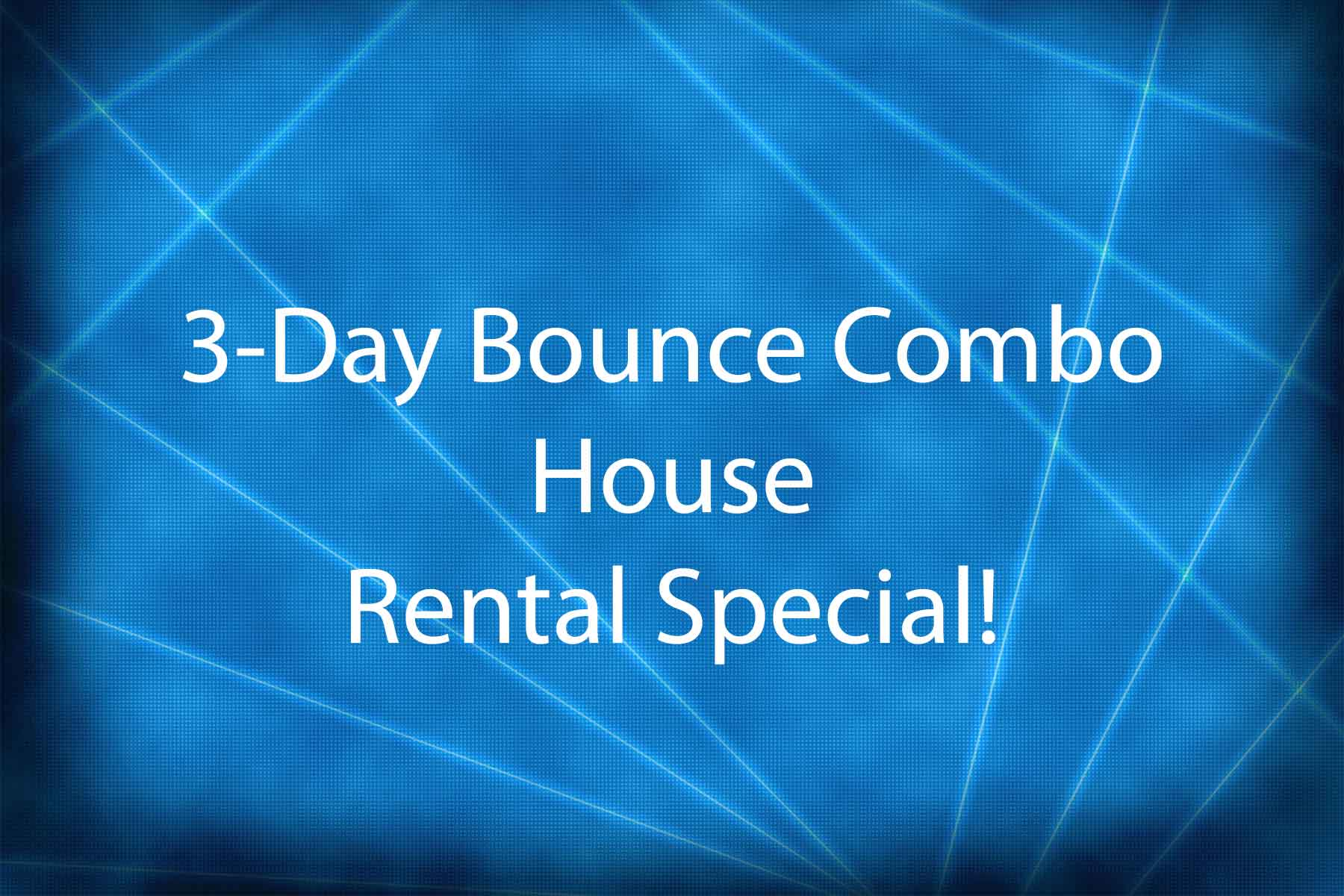 combo bounce house special