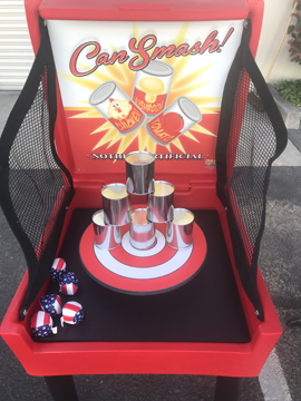 Smash a Can Carnival Game