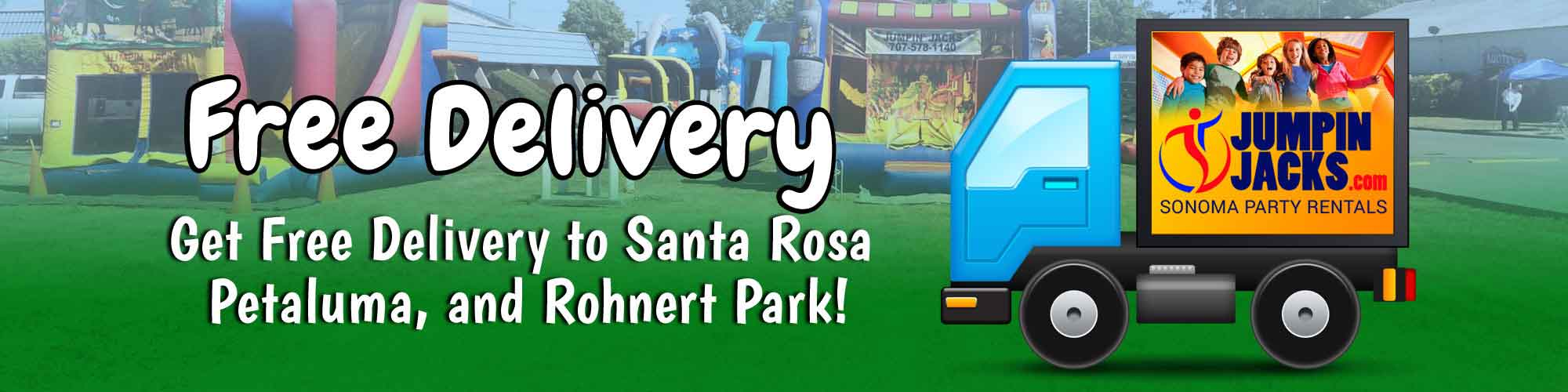 Free Delivery to Rohnert Park