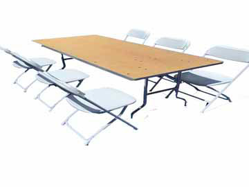 Table and Chair Rentals Santa Rosa