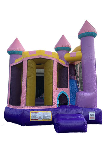 Backyard Glitter Castle Combo Bounce House