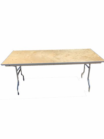 6 Foot Wood Banquet Table
