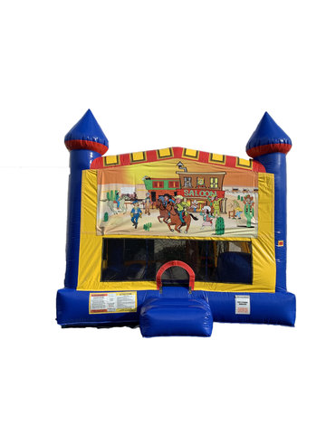 Western 4 n 1 Combo Bounce House