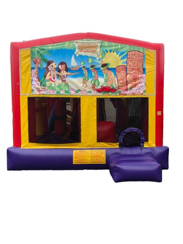 Luau 5 n 1 Combo Bounce House
