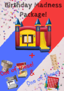 Birthday Madness Package (Large External Slides)