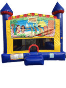 Luau 4 n 1 Combo Bounce House