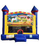 Unicorn 4 n 1 Combo Bounce House