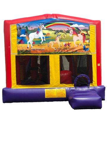 Unicorn 5 n 1 Combo Bounce House