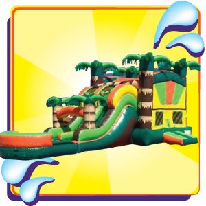 Tropical Bounce House Combo Jumpin Jack Splash Utah