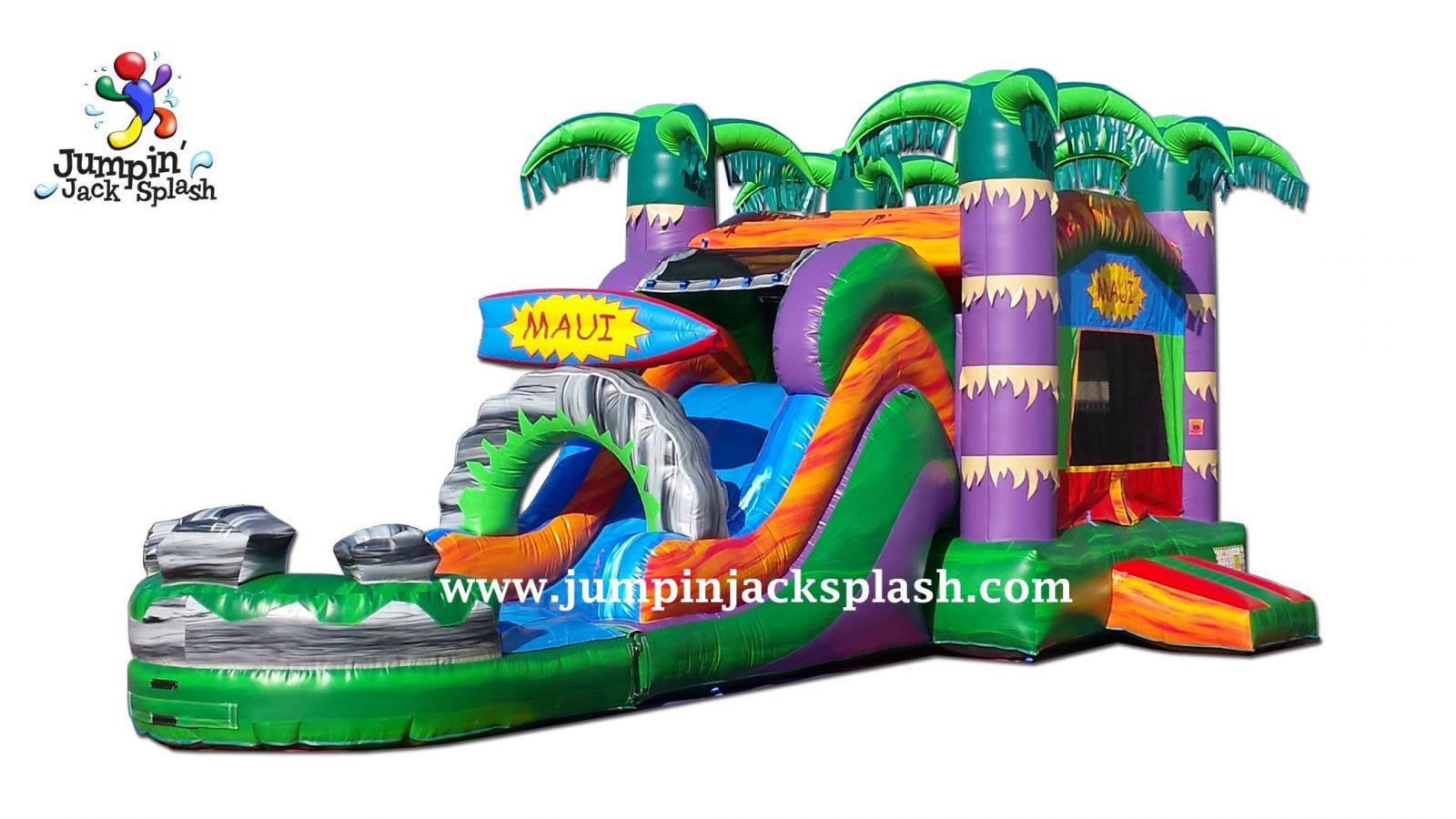 Maui Bounce House Slide Combo Jumpin Jack Splash Utah
